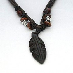 Afrikansk halskæde med fjer
