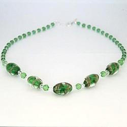 Perlekæde - Grøn med store perler