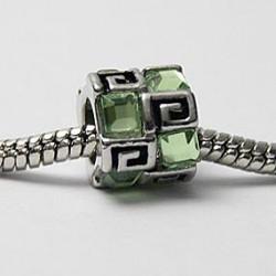 Mønster med grønne sten
