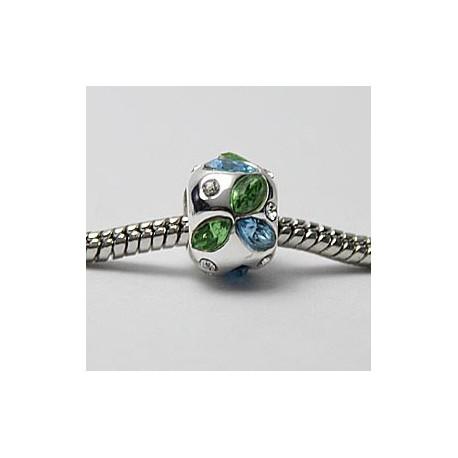 Grønne og blå sten
