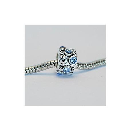 Mønster med lyseblå sten