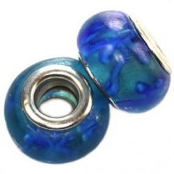 Blå med blåt fyrværkeri