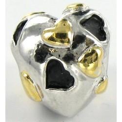 Hjerte med gyldne hjerter