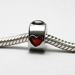 Stopled med rødt hjerte