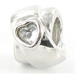 Charm med hjerte og sten