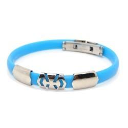 Silikone armbånd, lyseblå