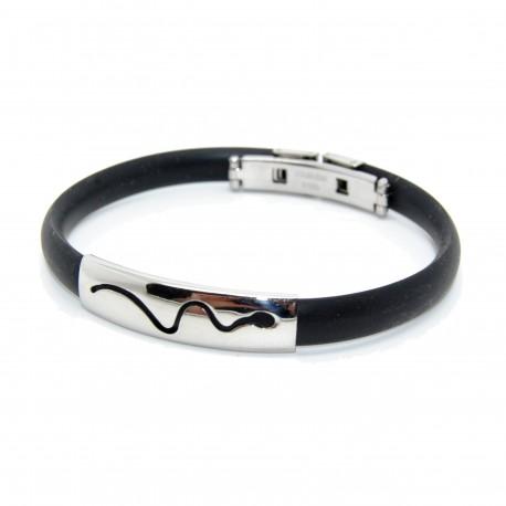 Silikone armbånd, sort