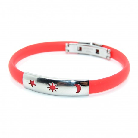 Silikone armbånd, rød