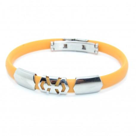 Silikone armbånd, orange