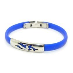Silikone armbånd, mørkeblå