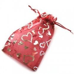 Gavepose (Rød med stjerner)