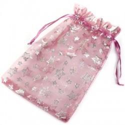 Lyserød smykkepose med stjerner