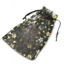 Sort smykkepose med stjerner