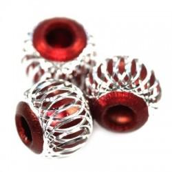 Rød charm aluminium