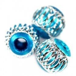 Blå charm aluminium