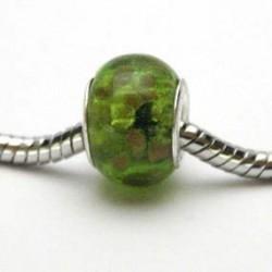 Grøn med guld prikker (pk. med 5 stk)