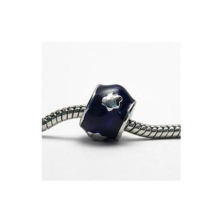 Mørkeblå med sten