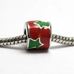 Rød med grøn stjerne