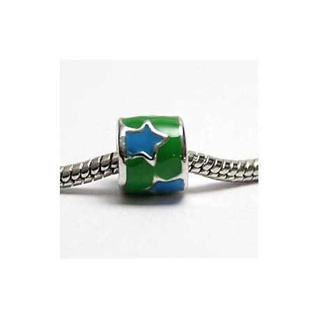 Grøn med blå stjerner